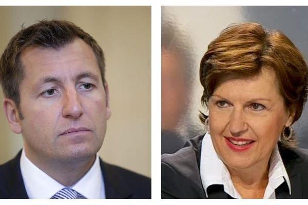 """Alain Chrétien, maire de Vesoul, """"Agir"""" et Annie Genevard, députée LR du Doubs"""