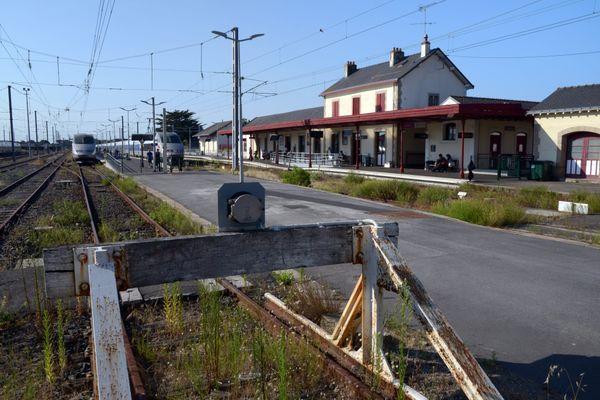 La gare du Croisic, en Loire Atlantique, le 15 août 2016