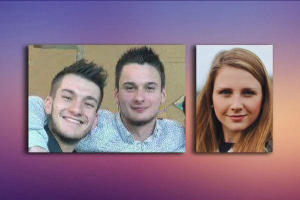 De gauche à droite : Clément, Hugo et Clémence, tués dans l'accident.