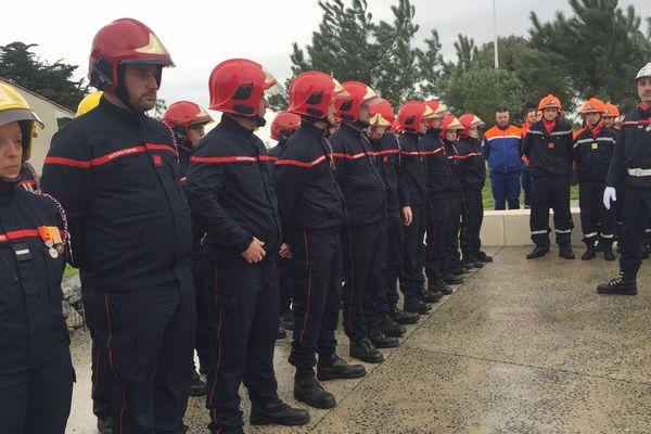 Les services de secours étaient également présents à cette cérémonie