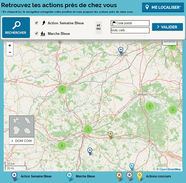 Les actions et les marches de la semaine bleue en région Centre-Val de Loire