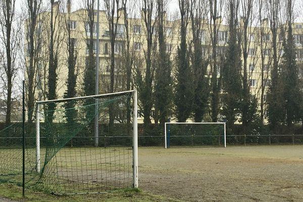 La plaine de jeux de la Marrière à Nantes où a été retrouvé le corps d'une jeune femme ce mercredi 4 mars 2020