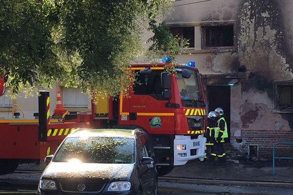 1200 mètres carré du groupe scolaire Jean Jaurès à Oissel ont pris feu samedi 14 juillet 2018.
