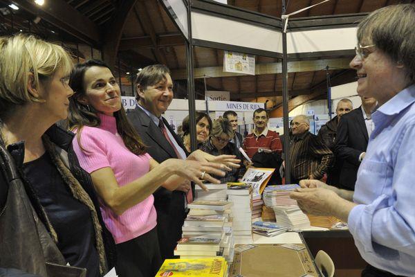 Aurélie Filipetti et Philippe Nauche lors de l'inauguration de la foire du Livre de Brive 2012