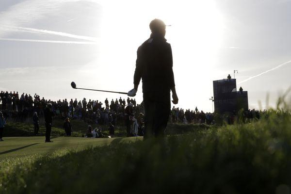 Le golfeur américain Rickie Fowler au Golf national pendant la Ryder Cup à Saint-Quentin-en-Yvelines le 29 septembre 2018.