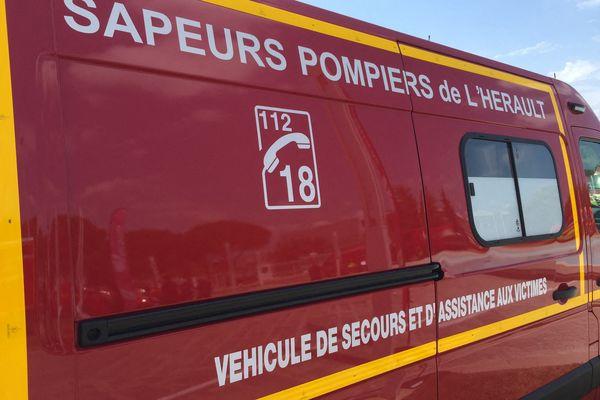 Ambulance des sapeurs-pompiers de l'Hérault et du SDIS 34