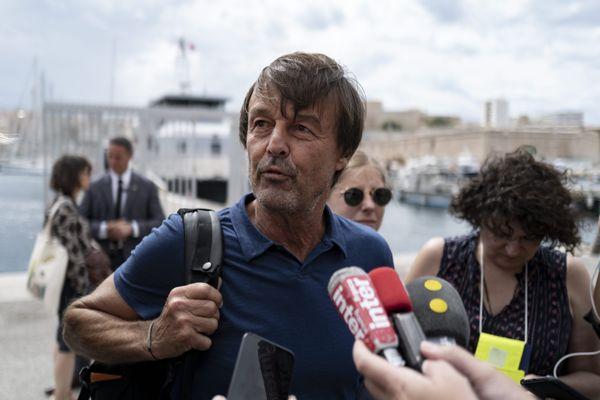 Nicolas Hulot à Marseille, 3 septembre 2021