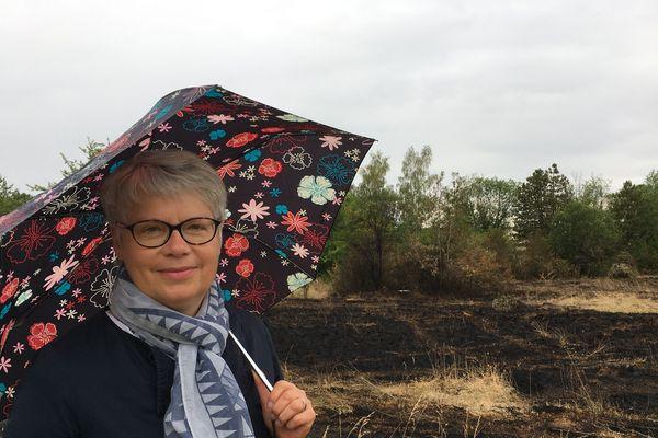 Laurence Vigneron déplore l'état du site après l'incendie.