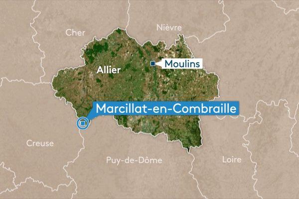 Plus de 5 000 poussins ont été tuées dans un incendie qui s'est déclaré tôt dans la matinée mercredi 20 mars 2019à Marcillat-en-Combraille (Allier).