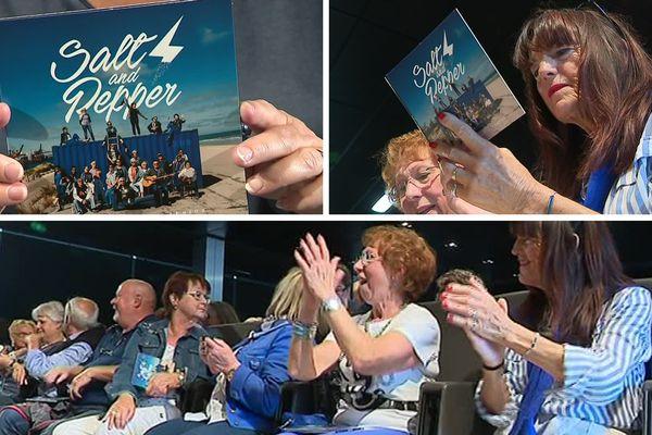 Les choristes ont découvert la pochette de leur album ce mardi.
