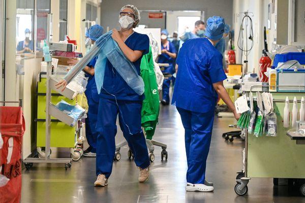 Photo d'illustration à l'hôpital de Valenciennes, le 6 avril.