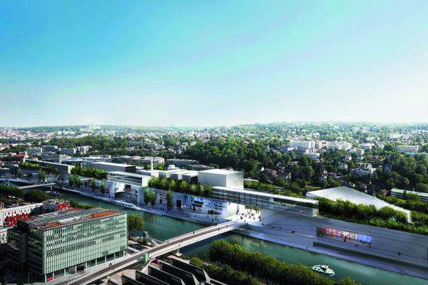 Ce projet ne comporte aucun gratte-ciel, pomme de discorde avec certains riverains et associations. La place au sol est par conséquence réduite. Il y a moins d'espaces verts néanmoins la galerie commerçante s'aggrandit. Superficie constructible: 232 000 m2.