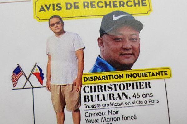 Un avis de recherche a été lancé pour trouver Christopher Buluran, un touriste américain qui a disparu à Paris.
