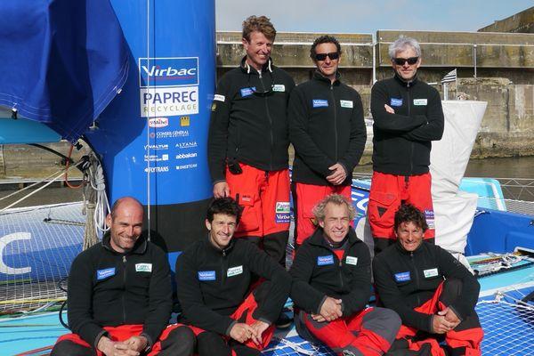 Le team de Jean-Pierre Dick sur Virbac-Paprec