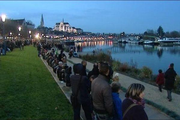 Les Auxerrois sont venus en nombre assister à l'inauguration des quais de l'Yonne