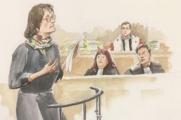 Le médecin légiste le Docteur Irène François-Purssel à la barre, lundi matin 24 septembre lors du procès en appel de Pascal Jardin