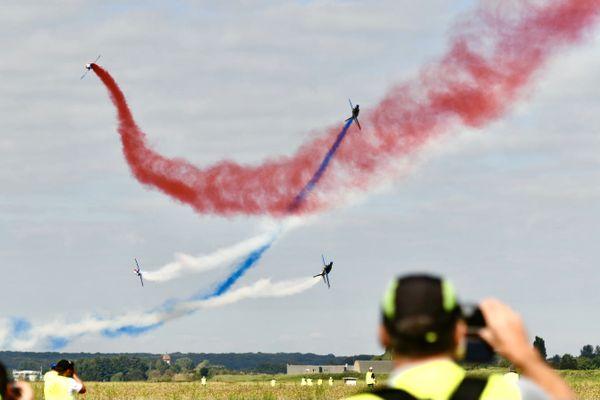 La Patrouille de France a fait une arrivée remarquée sur la base aérienne de Luxeuil