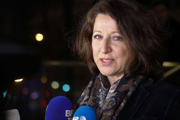 Agnès Buzyn lors de l'annonce de sa candidature le 16 février 2020.