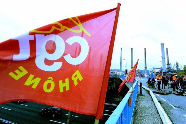 Photo d'illustration d'une mobilisation à la raffinerie de Feyzin