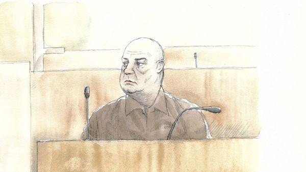 Willy Bardon aux assises de la Somme pour l'ouverture de son procès dans l'affaire Elodie Kulik, le 21/11/2019