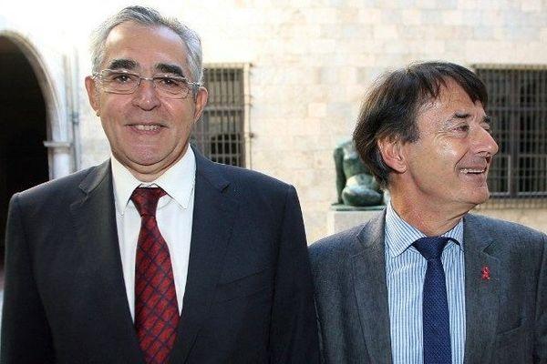 Jean-Marc Pujol maire UMP sortant et Jean-Paul Alduy UDI en 2009