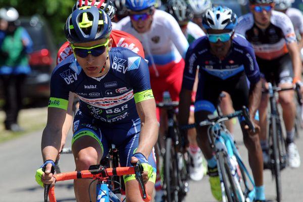 fabien Doubey sur la première étape du Tour du Jura en 2017
