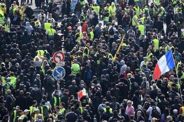 Manifestation des Gilets Jaunes le 1er mai à Paris