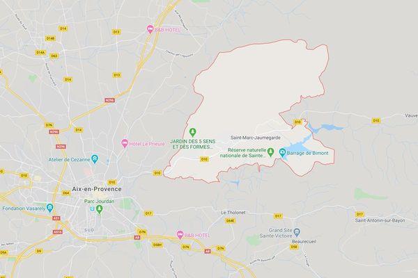 Accident à Saint-Marc Jaumegarde