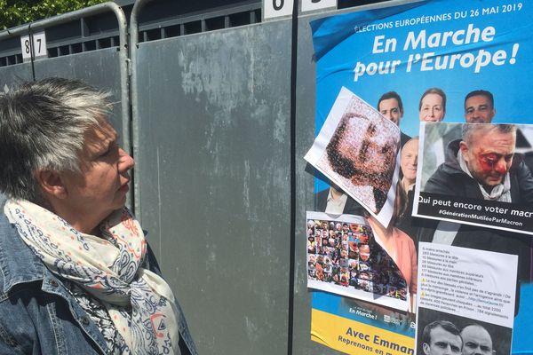 Patricia Bordas, référente de la République en Marche pour la Corrèze, envisage de porter plainte après la détérioration d'affiches électorales LREM à Brive et Malemort.