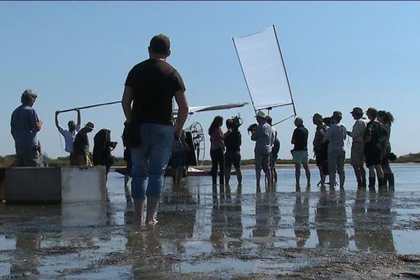 """Le tournage de """"Donne-moi des ailes"""", de Nicolas Vanier, a eu lieu en partie en juin 2018 au Grau-du-Roi, en Camargue"""