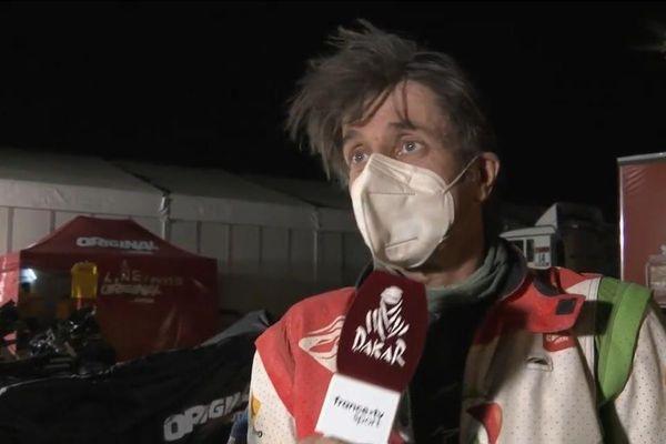 Le nordiste Pierre Cherpin, victime d'un grave accident lors de la 7ème étape du Dakar en Arabie Saoudite ce dimanche 10 janvier 2021.