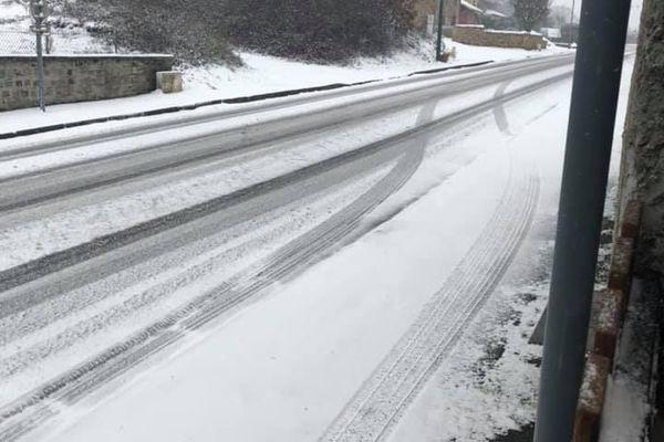 Neige à Châtenet-en-Dognon (Haute-Vienne) le 22.01.2019