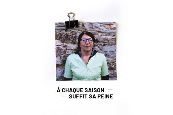 Dans « À chaque saison suffit sa peine », Juliette, auxiliaire de vie, raconte l'année éprouvante qu'elle vient de passer. Crédits : Tiphaine Joannès et Maurane Noël.