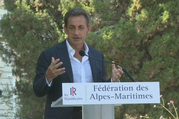 Nicolas Sarkozy à Nice, en juillet 2015.