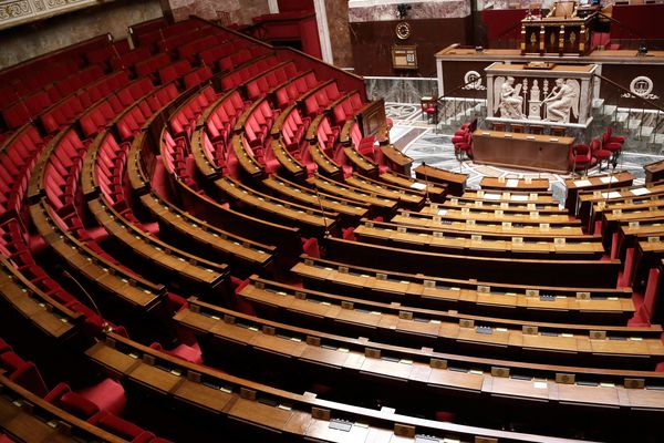 L'hémicycle du Palais-Bourbon