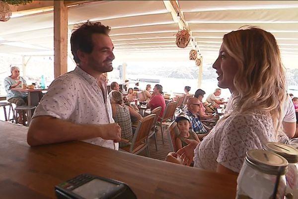 Jérémy et Emilie, les gérants du club de plage, ont obtenu une concession de 7 ans.