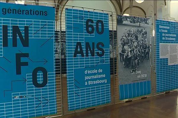 Une exposition à l'Aubette, place Kléber à Strasbourg retrace l'histoire des 60 ans du CUEJ