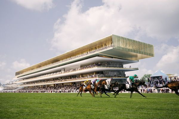 Le projet de nouvel hippodrome de Longchamp, à Paris.