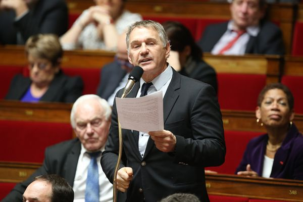 Patrick Vignal à l'assemblée nationale en janvier 2017