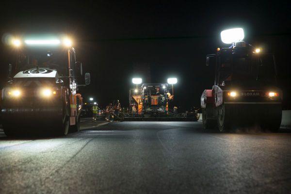 Au sud de Clermont-Ferrand, sur l'A75, de nombreux travaux ont lieu la nuit.