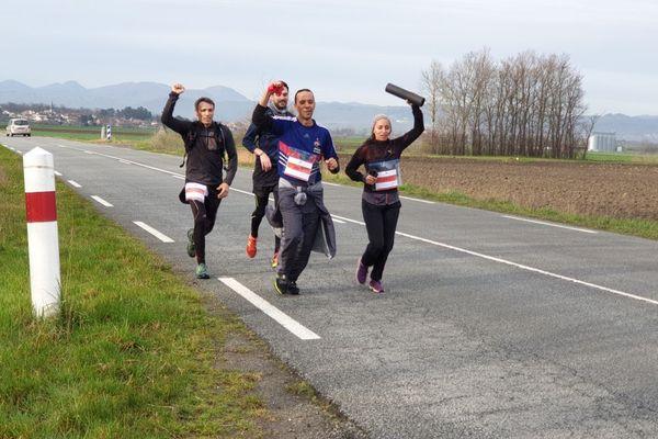 Mercredi 4 mars, afin de protester contre la réforme des retraites, des avocats ont couru entre Riom, près de Clermont-Ferrand, et Cusset, dans l'Allier.
