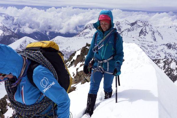 L'arrivée au sommet du Malinvern, à 2938 mètres d'altitude