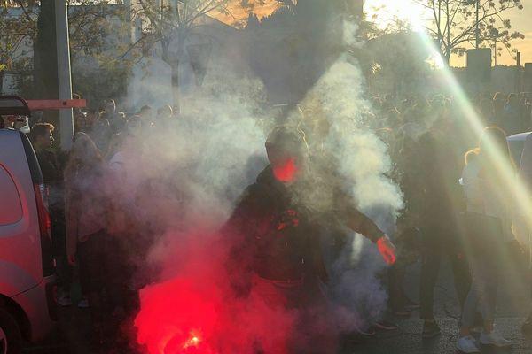 Agde (Hérault) - manifestation devant le lycée Auguste Loubatières - 3 décembre 2018.