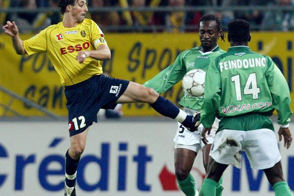 Mickael Isabey face à Saint-Etienne en Coupe de la Ligue (2004)