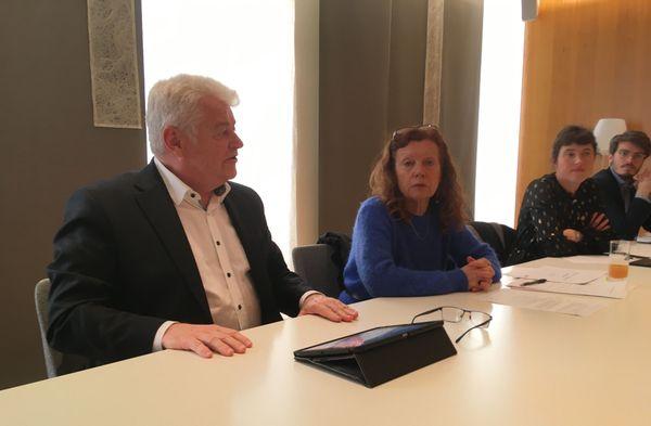 Philippe Grosvalet, Président du Conseil Départemental et Marie-Paule Gaillochet, conseillère départementale.