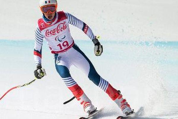 Arthur Bauchet lors de sa magnifique descente aux Jeux Paralympiques cette nuit à  Pyeongchang