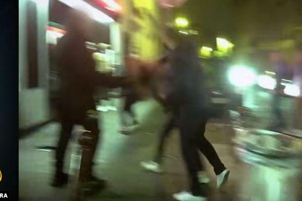 Capture d'écran du reportage d'Al Jazeera. Une bagarre filmée à Lille dans le quartier Massena