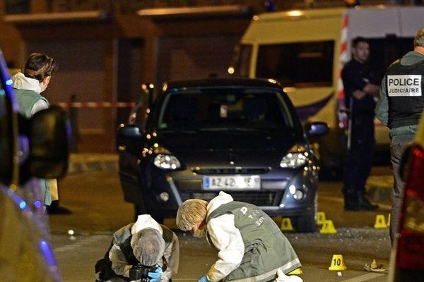Scène du crime du 9 mai 2013 à Marseille - photo Boris Horvat - Afp