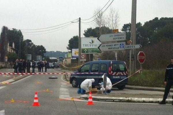 La fusillade a eu lieu en plein jour au 35 avenue des Chabauds à Bouc-Bel-Air.