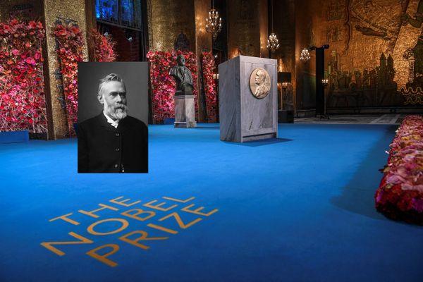 Ludvig Immanuel Nobel en médaillon,